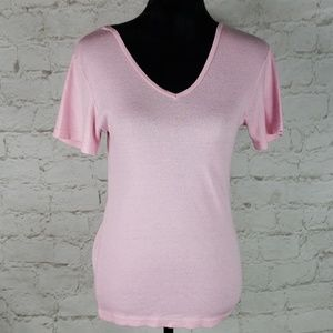 Michael Stars pink v neck tee One Size Fits Most